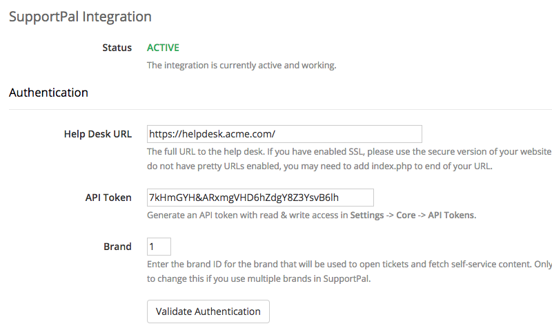 WHMCS Integration Configuration