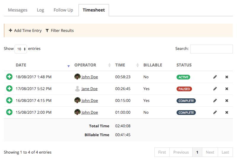 Time Tracking Time Log
