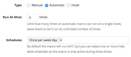 Automatic macro