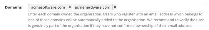 Organisation Domains