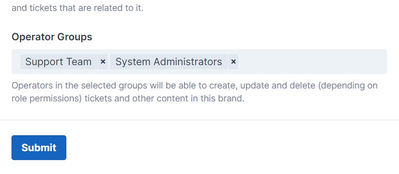 Brand Operator Assignment