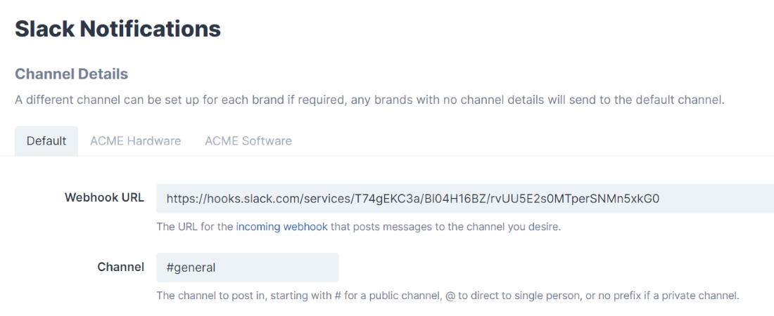 Channel Details